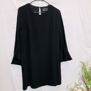 Blaque Label Az M Black Bell Sleeve Midi Dress